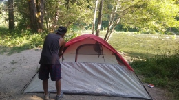 Setting up camp at the Carlton Site